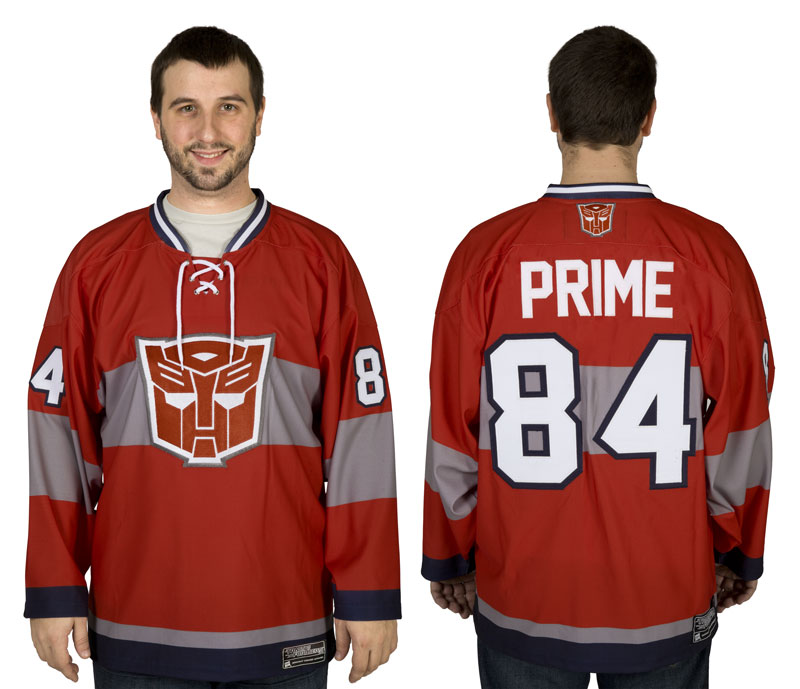 "Winner announced from our ""Win an Optimus Prime Hockey Jersey from 80sTees.com"" contest"