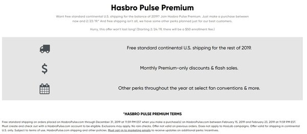 Hasbro Pulse replacing HastroToyShop, offering new services