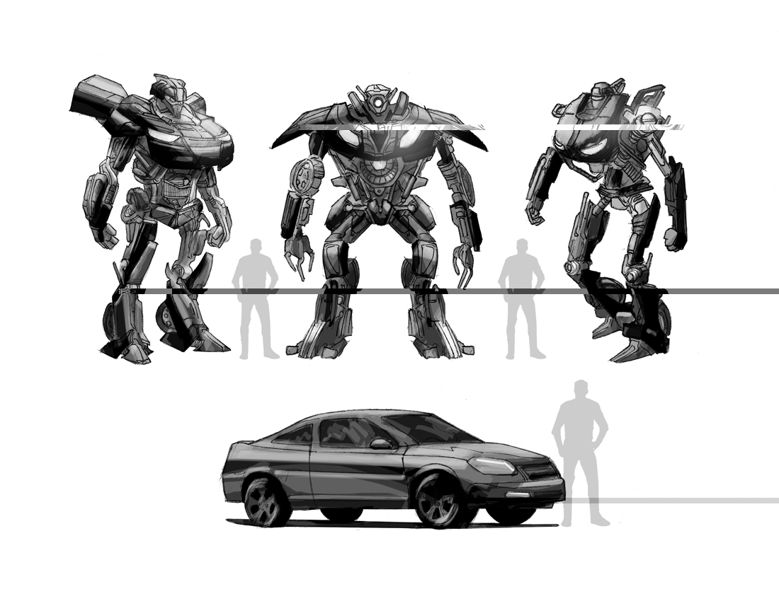 Never before seen Transformers 07 game concepts!