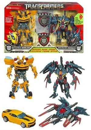 Battlefield Bumblebee & Infiltration Soundwave (NEST 2 pack)