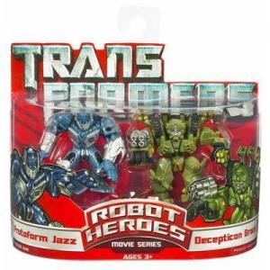Protoform Jazz and Decepticon Brawl