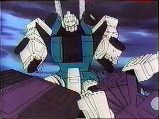 Sixshot smacks Decepticon Clones heads together