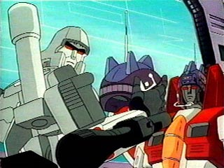 Starscream & Megatron with helmets