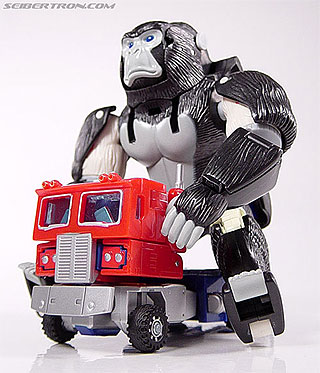 Optimus Primal gets a ride!