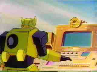 Bumblebee at the computer