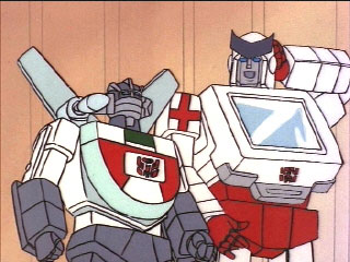 Wheeljack and Ratchet share a moment
