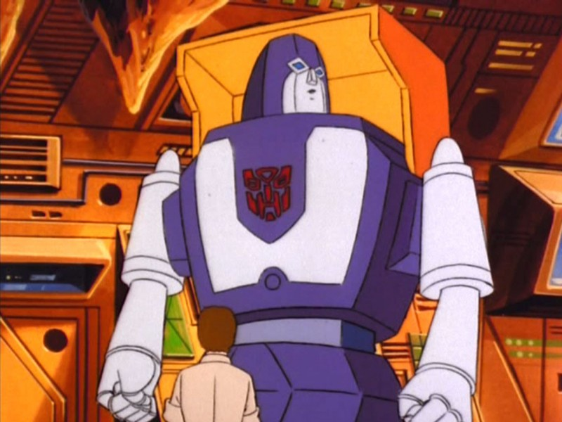 Spike stands in front of Huffer
