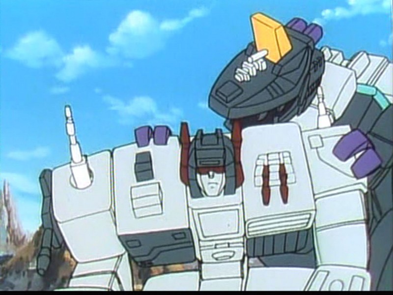 Trypticon and Metroplex share a moment