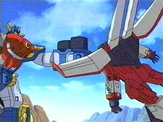Optimus takes a hold of Starscream
