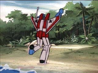 Starscream running toward island