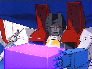 Starscream drinks some Energon