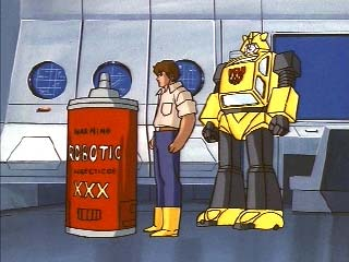 "Spike and Bumblebee with ""Insecticide"""