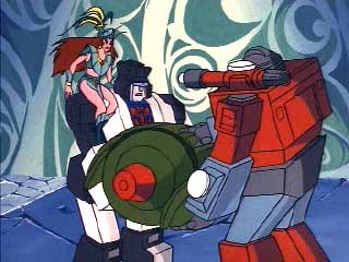Jazz and Perceptor carrying Cosmos