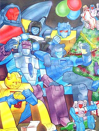 Transformers celebrate the New Year