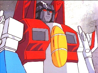 Starscream with bird droppings on his head