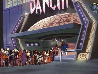 People in line at the Dancitron