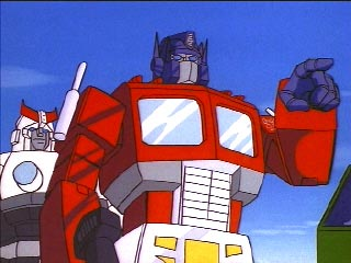 Optimus Prime pointing