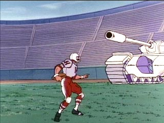 Football player versus Blitzwing