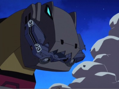 Grimlock eats a car