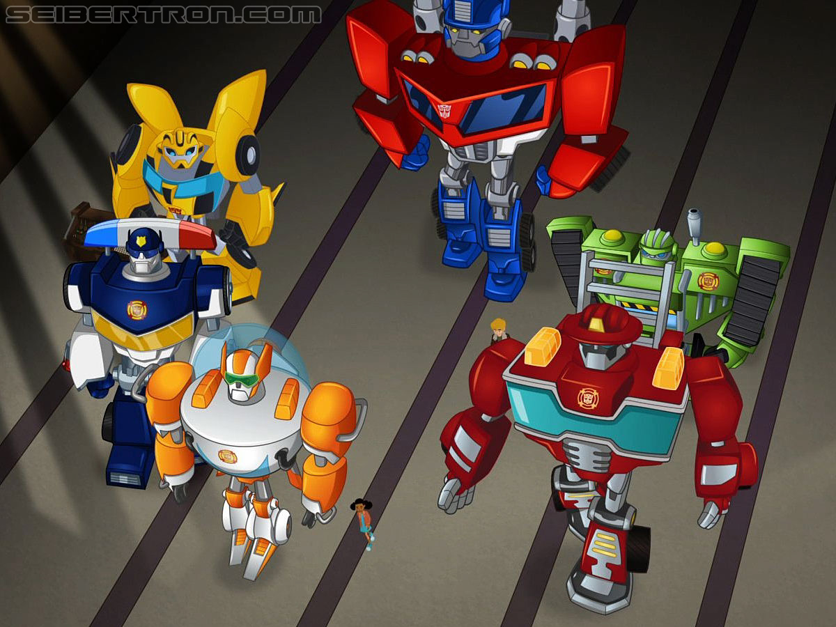 Exclusive promo images of Optimus and Bumblebee from Transformers: Rescue Bots season finale