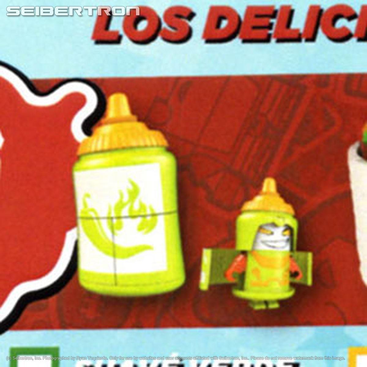 Transformers Botbots Series 4 Los Deliciosos Suave Verde Complete hot sauce