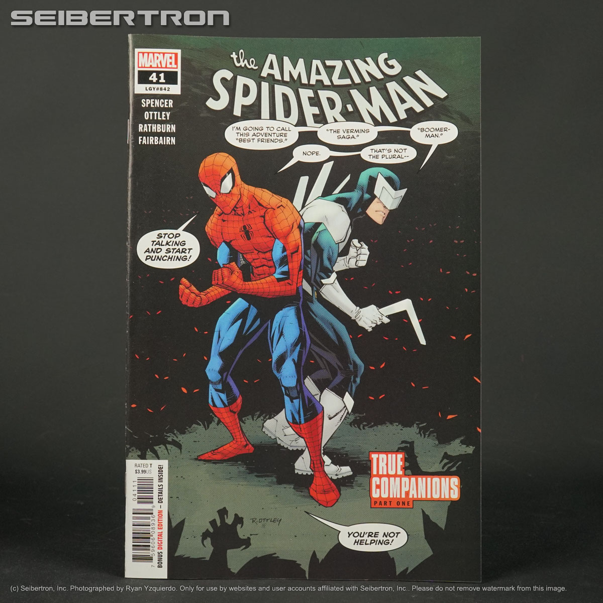 Amazing Spider-Man #16 Land Variant VF 2019 Stock Image