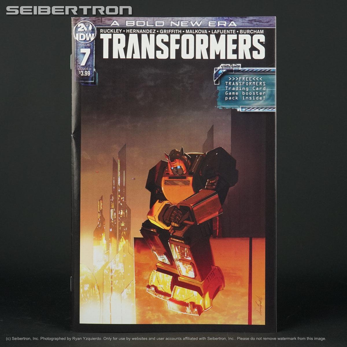TRANSFORMERS #7 Cover B IDW Comic 2019 BOLD NEW ERA TCG Booster Pack 7B