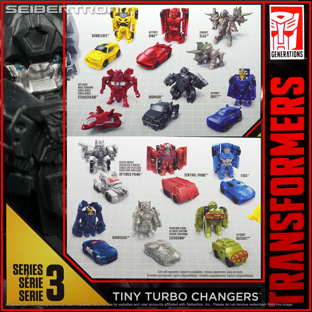 Series 3 BARRICADE Transformers Tiny Turbo Changers Movie