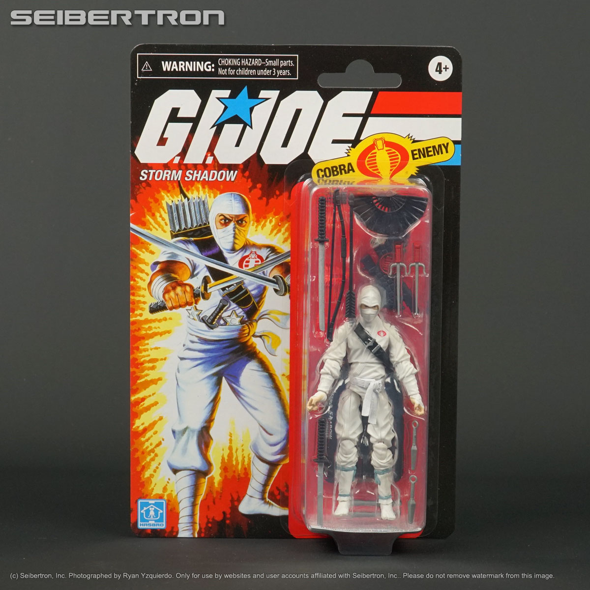 Hasbro G.I Joe Retro Collection Storm Shadow Figure On Hand
