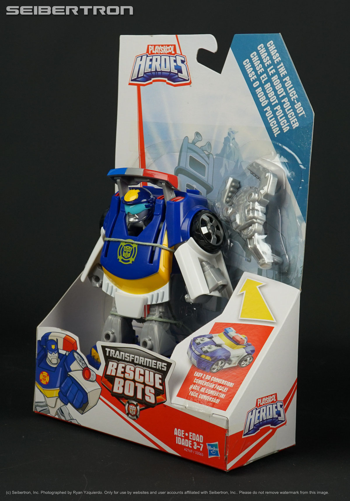 Cartoon Colors CHASE THE POLICE-BOT weapon Transformers Rescue Bots 2018
