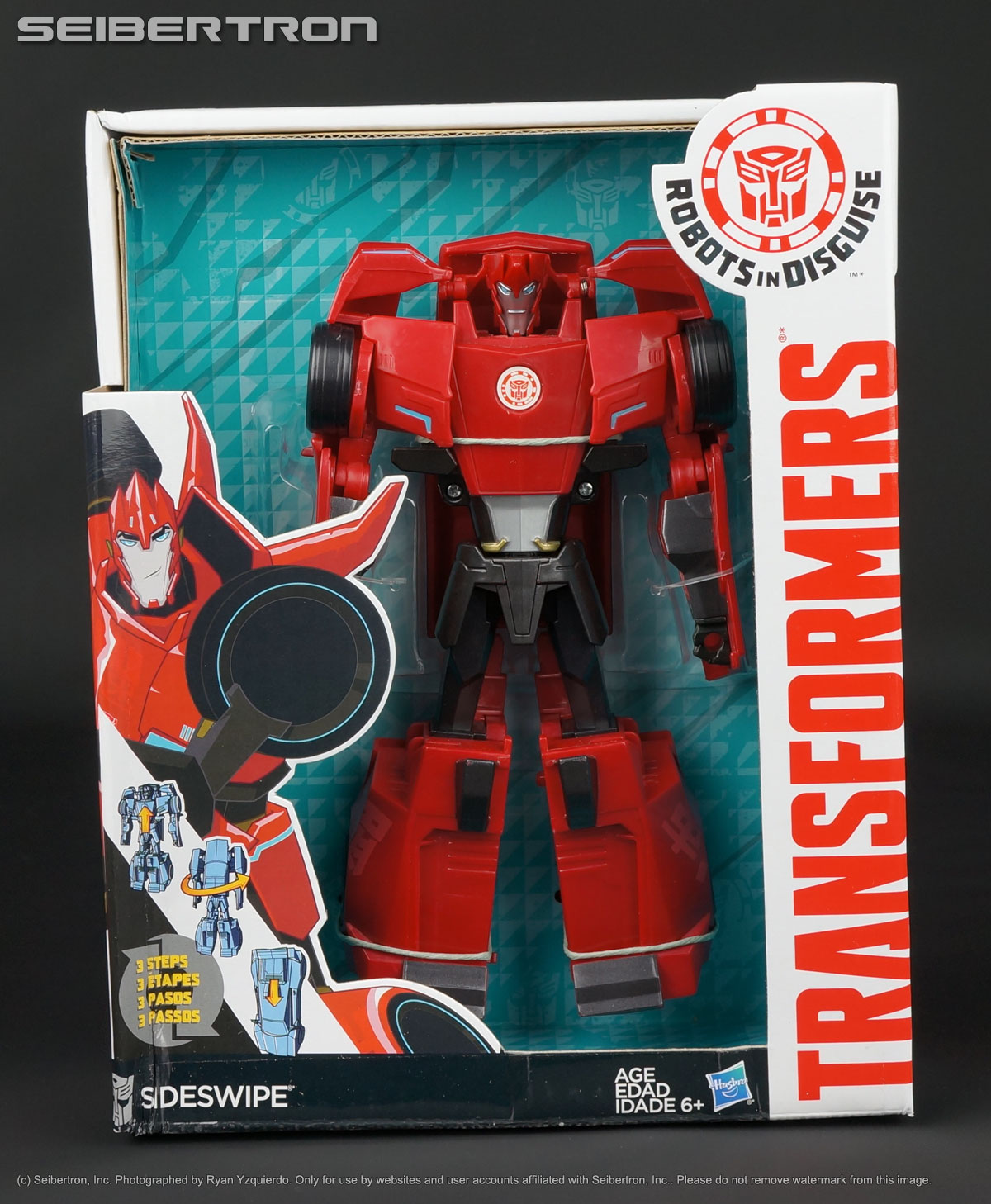 3-Step SIDESWIPE Transformers Robots In Disguise 2015