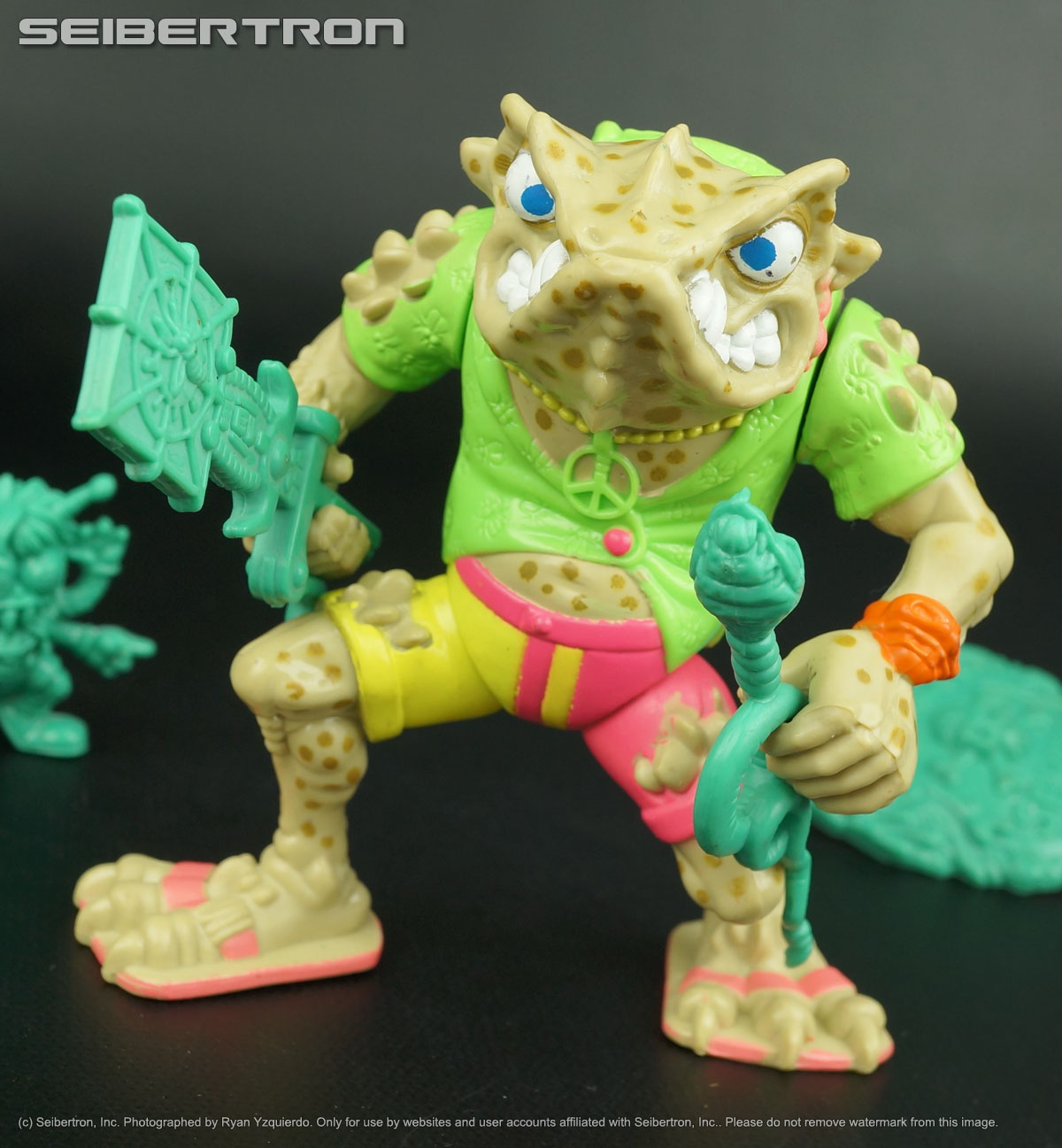 Teenage Mutant Ninja Turtles, Masters of the Universe, Transformers, Comic Books, DVDs and more listings from Seibertron.com: NAPOLEON BONAFROG Teenage Mutant Ninja Turtles complete 1990 TMNT LIGHT variant