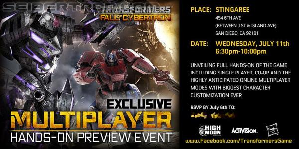 SDCC 2012 - Activision Exclusive Multiplayer Hands-On Preview Event