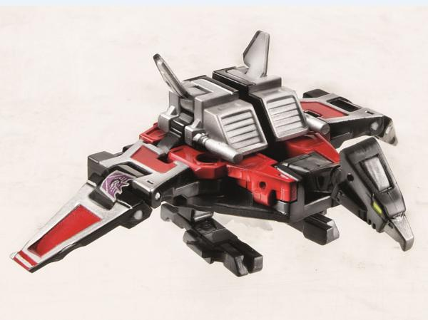 Official product images of Masterpiece Soundwave, Rumble, Frenzy, Ravage, Laserbeak, and Buzzsaw