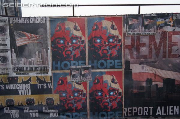 New video and gallery of Propaganda Posters from set of Transformers 4 in Chicago