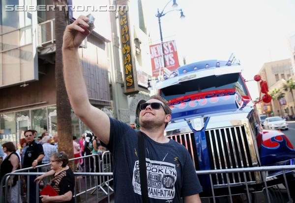 Transformers News: Optimus Prime participates in Walk of Fame handprint ceremony in Hollywood, CA