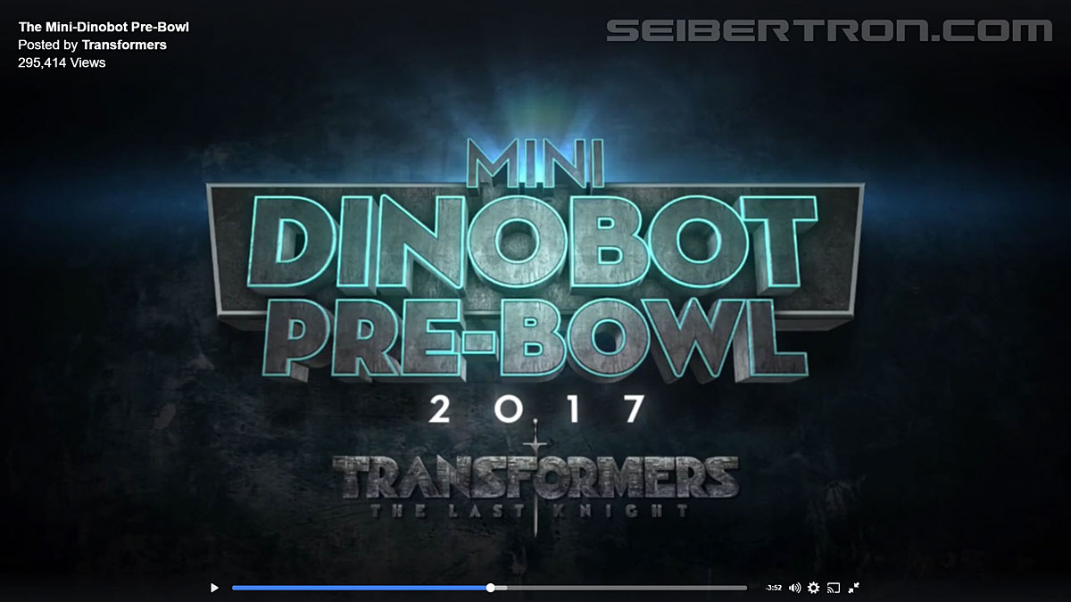 Transformers News: Transformers: The Last Knight Mini Dinobot Pre-Bowl Screencap Gallery