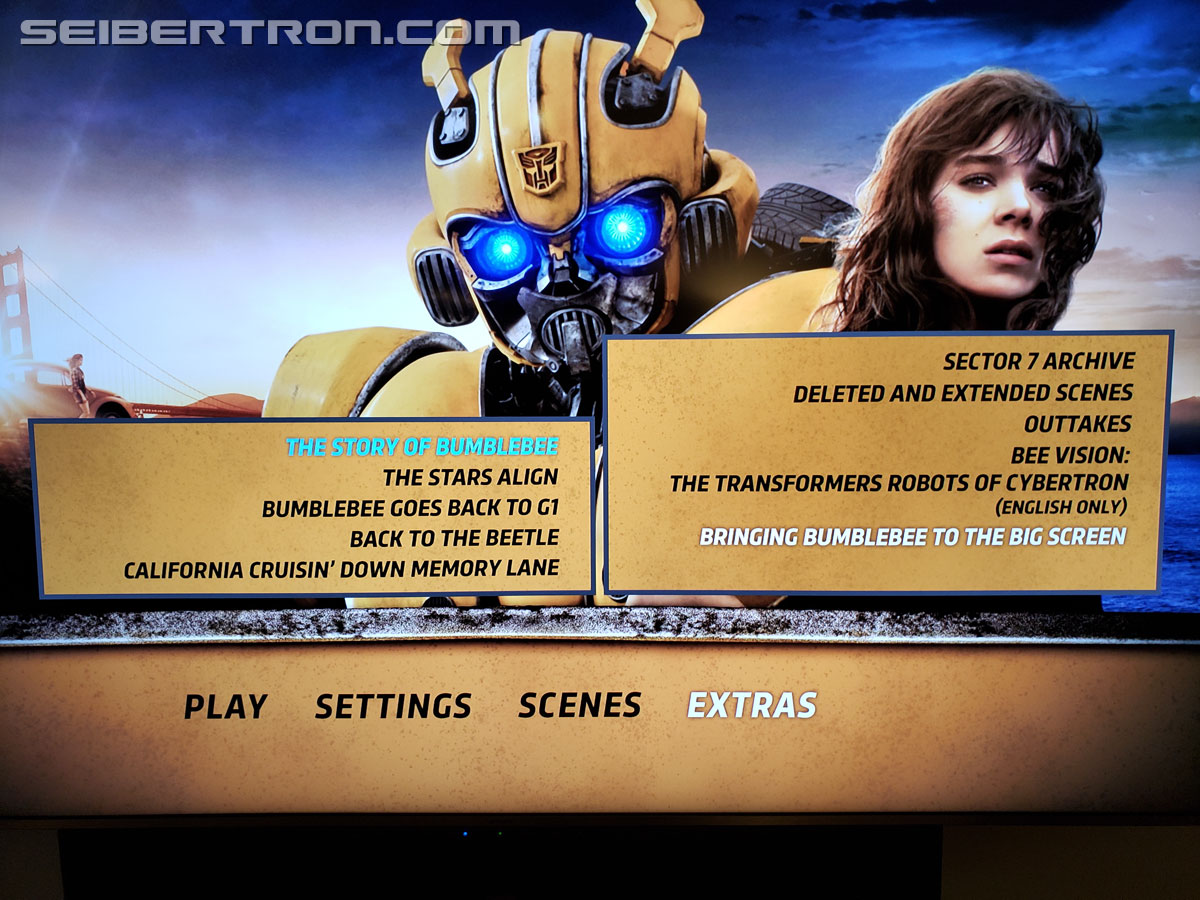 Bumblebee 4K Ultra HD Blu-Ray Combo Set Images