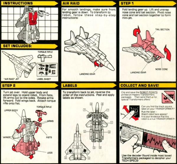 Instructions for Air Raid