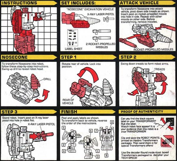 Instructions for Nosecone