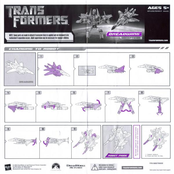 Instructions for Dreadwing