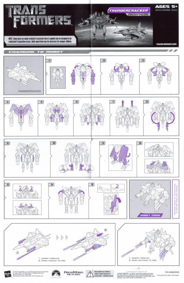 Instructions for Thundercracker