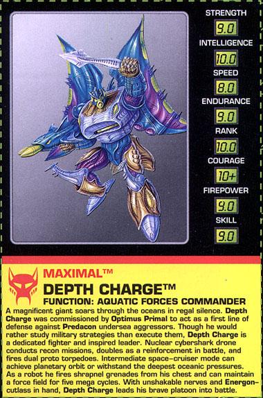 Depth Charge - Beast Wars, Beast Wars Metals - Transformers Depth Charge Beast Wars