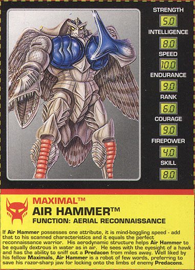 Transformers Tech Spec: Air Hammer