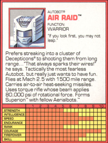 Transformers Tech Spec: Air Raid