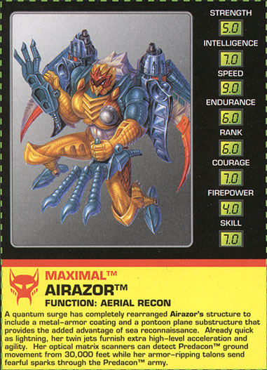 Transformers Tech Spec: Airazor