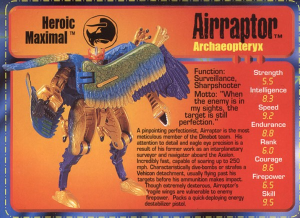 Transformers Tech Spec: Airraptor