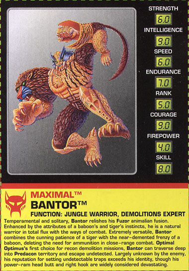 Transformers Tech Spec: Bantor