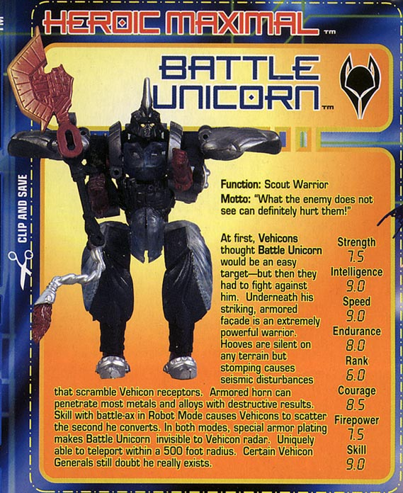 Transformers Tech Spec: Battle Unicorn