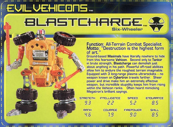 Transformers Tech Spec: Blastcharge